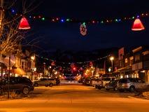 C'est Noël dans cette ville de ski photographie stock libre de droits