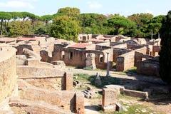 Ruines dans Ostia Antica, Italie Image stock
