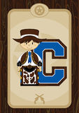 C est pour le cowboy Illustration Libre de Droits