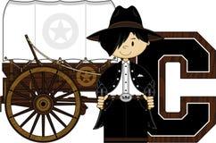 C est pour le cowboy Illustration Stock
