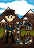C est pour le cowboy Illustration de Vecteur