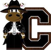 C est pour le cowboy Cow Photo stock