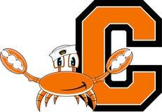 C est pour le crabe Illustration Stock