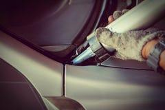 C'est réparation ou accident automobile en verre claire Photographie stock libre de droits