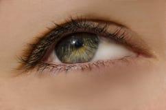 C'est un macro d'un oeil humain Photo libre de droits