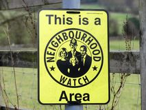 C'est un signe de région de montre de voisinage image stock