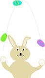 Jonglerie de lapin de Pâques Image libre de droits
