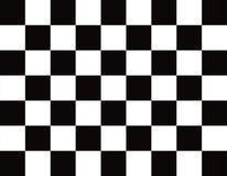 C'est un vrai drapeau à carreaux et de finition Image stock