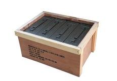 C'est une boîte de munitions Photo stock