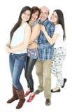 C'est une famille heureuse Photo libre de droits