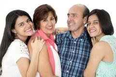 C'est une famille heureuse Images libres de droits