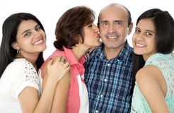 C'est une famille heureuse Photos libres de droits