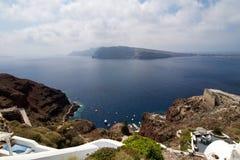 C'est une vue d'Oia Photo stock