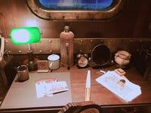 C'est une vue faisante le coin d'un bateau de croisière photo libre de droits