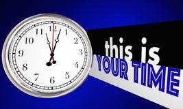 C'est votre horloge personnelle de succès de moment de temps Photos libres de droits