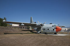 C-123 Fairchild Provider 176th Wing. The Provider short-range assault transport used to airlift troops and cargo onto short runways and unprepared airstrips stock photos