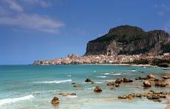 c falu西西里岛 库存图片