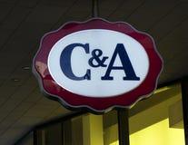 C & A fasion sklepu znak na budynku Obraz Stock