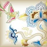 C floral abstracta stock de ilustración