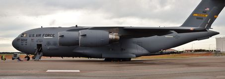 C-17 Globemaster货机 库存图片