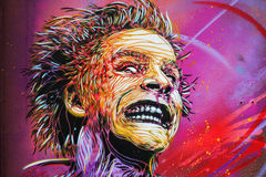 C215 graffiti piece in Oslo Royalty Free Stock Photos