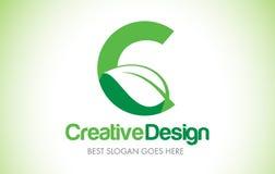 C Green Leaf Letter Design Logo. Eco Bio Leaf Letter Icon Illust. C Green Leaf Letter Design Logo. Eco Bio Leaf Letters Icon Illustration Vetor Logo Royalty Free Stock Photo