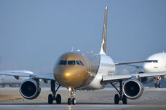 A9c-Gulf Air-Luchtbus A320-214 Stock Foto's