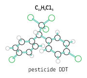 C14H9Cl5 pesticide DDT molecule Royalty Free Stock Photo