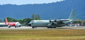 C-130H Hercules Royal Thai Air Force fotos de archivo libres de regalías