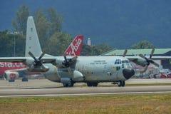 C-130H Hercules Royal Thai Air Force foto de archivo libre de regalías