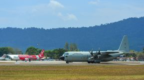 C-130H Hercules Royal Thai Air Force stock foto