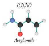 C3H5NO-acrylamidemolekyl Fotografering för Bildbyråer