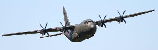 C130 Hercules aircraft. Low level C130 Hercules military aircraft Royalty Free Stock Images