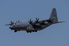 C-130 Hercules. On landing approach to Davis Monthan Air Force Base stock photo