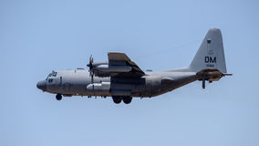 C-130 Hercules. On landing approach to Davis Monthan Air Force Base stock image