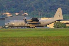 C-130 Hercules Malaysia Airforce, szb Royaltyfria Bilder