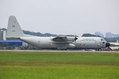 C-130 Hercules Malaysia Airforce, szb Royaltyfri Fotografi