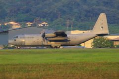 C-130 Hercules Malaysia Airforce, szb royalty free stock images
