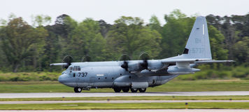 C-130 Hercules, Transport plane Stock Photos