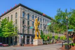 21c hotel en Art Museum Stock Afbeeldingen