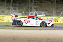 C.I. Gran Turismo car racing. Imola, Italy - October 11, 2014: A Lamborghini Gallardo Cup Gtc of Tempesta Sascha Bonaldi Motorsport team, driven By Tempesta Stock Photos