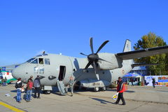 C-27J Spartan military static display Royalty Free Stock Images