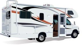 De c-Klasse van rv de Aanhangwagen van de Kampeerauto royalty-vrije illustratie