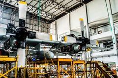 C130 kopplar samman airscrewmotorn Royaltyfri Foto