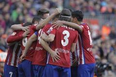 Célébration Goal Koké d Atletico Madrid Stock Images
