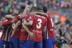 Célébration Goal Koké d Atletico Madrid Royalty Free Stock Photo