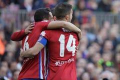 Célébration Goal Koké d Atletico Madrid Stock Image