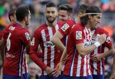 Célébration Goal Koké d Atletico Madrid Stock Photography