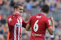 Célébration Goal Koké d Atletico Madrid Royalty Free Stock Image