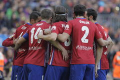 Célébration Goal Koké d Atletico Madrid Royalty Free Stock Photography
